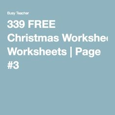339 FREE Christmas Worksheets | Page #3