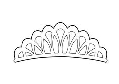 Pretty Tiara Coloring Page For Girls Printable Free Art Pop - elsa crown coloring page