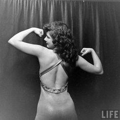 Adrienne Nichols, girl wrestler, 1948.