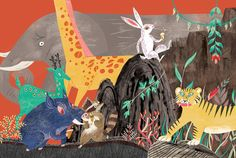 Korean Folk Tale - The Rabbit and the Dragon king by Yeji Yun, via Behance