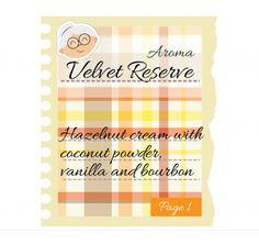 VELVET RESERVE Pag.1 - Vaniglia, caramello, nocciola e un tocco di polvere di cocco! #eliquids #DEAStore