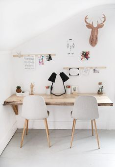 You will not mind getting job finished with a home office like among these. Discover inspiration for your home office design with ideas for decor, storage space and furniture. Diy Home Office Furniture, Home Office Decor, Diy Furniture, Home Decor, Office Table, Furniture Plans, System Furniture, Furniture Chairs, Office Ideas