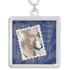 In Memory of Photo Template Necklace