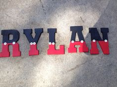 Wooden letters Mickey Mouse inspired by on Etsy Mickey Mouse Room, Mickey Mouse Clubhouse Party, Mickey Party, Wooden Letter Crafts, Painting Wooden Letters, Baby Boy Birthday, Mickey Mouse Birthday, Boy Room, Kids Room
