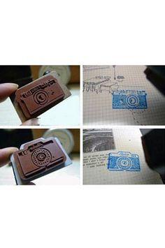 PFSTAMPA Set Of 2 Photo Camera Stamps