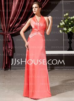 Kate Middleton Style - $133.99 - Sheath Halter Floor-Length Charmeuse Kate Middleton Style With Ruffle (044020784) http://jjshouse.com/Sheath-Halter-Floor-Length-Charmeuse-Kate-Middleton-Style-With-Ruffle-044020784-g20784