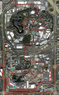 Disneyland Half Marathon route  - I did this!  (Thanks, Pattie!)