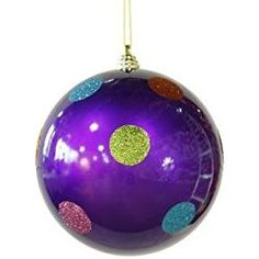 Shop for Candy Fantasy Purple Polka Dot Shatterproof Christmas Ball Ornament Get free delivery On EVERYTHING* Overstock - Your Online Christmas Store! Purple Christmas Ornaments, Christmas Ornament Sets, Christmas Store, Christmas Balls, Christmas Trees, Christmas Crafts, Xmas, Modern Christmas Decor, Country Christmas Decorations
