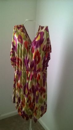 Women siren lily colorful v neck sun dress #sirenlily #Sundress #Casual