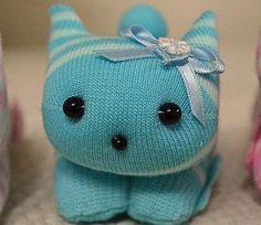 игрушки из носков - кошки