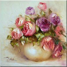 Roses in the vase