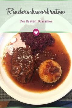 Braised beef: The classic Sunday roast - Braised beef is a real classic. Turkey And Rice Recipe, Turkey Meat Recipes, Ground Meat Recipes, Crockpot Recipes, Banana Breakfast Recipes, Banana Dessert Recipes, Chicken Tender Recipes, Braised Beef, Roast Beef