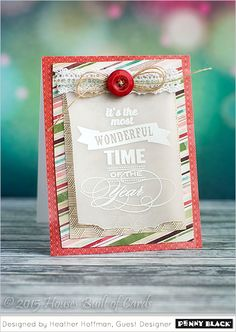 Penny Black is celebrating Christmas in July! Download complete supplies and instructions on our blog.