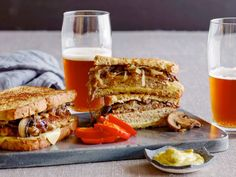 Turkey Burger Patty Melts : Guy Fieri recommends forming the ground turkey into oblong patties when preparing these juicy turkey melts. This way, you'll get the perfect bread-to-meat ratio in these sandwiches.