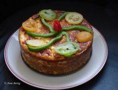 Cheesecake petits pois, jambon camembert