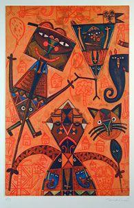 Fernando Andriacci  Fernando Andriacci was born in 1972 in San Juan Bautista Cuicatlan, in the Cañada region of Oaxaca. He began his studies at the Casa de Cultura in Oaxaca city in 1983. He studied at the Taller Municipal de Artes Plasticas y Pintura Monumental Rodolfo Nieto, and in 1989 entered the Taller de Artes Plasticas Rufino Tamayo.