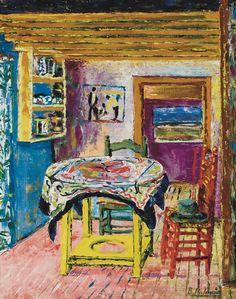 Benjamin Palencia (Spanish, 1894-1980), Interior, 1950. Oil on canvas, 32 x 25 ½ inches (81.3 x 64.8 cm)