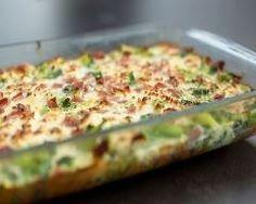 Gratin de brocolis au fromage et jambon | Cuisine AZ