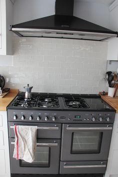 Rangemaster Toledo 110 gunmetal grey from Redhill Appliances (ex display to save money) Kitchen Sets, New Kitchen, Kitchen Dining, Kitchen Decor, Kitchen Cabinets, Kitchen Appliances, Kitchen Layouts, French Kitchen, Kitchen Tiles