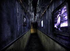 Zombie Manor--Love this hallway!
