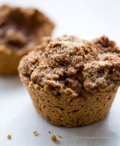 Cinnamon Toast Morning Muffins, gluten-free and vegan