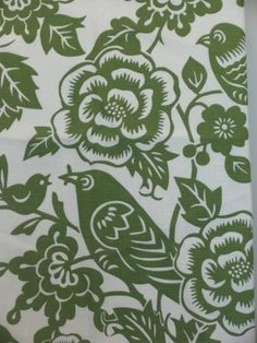 Green and white upholstery fabric Textile Design, Fabric Design, Piano Bench, Drapery Fabric, Bird Feathers, Pattern Wallpaper, Lush, Upholstery, Decorating Ideas