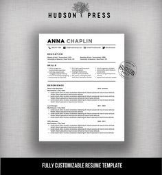 Professional Resume Template  Cv And Cover Letter Letterhead