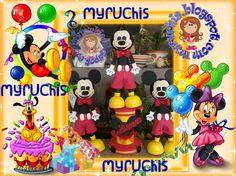 Fiesta Mickey, Centros de mesa infantiles,  fiestas infantiles, ideas fiesta Mickey myruchis.blogspot.com
