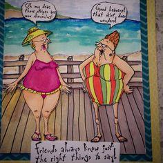 Selma & Gladys (Sku# 4211): Art Impressions Golden Oldies. Girlfriends inspiring each other! Handmade card.