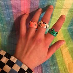 Fimo Ring, Polymer Clay Ring, Clay Art Projects, Clay Crafts, Cute Jewelry, Jewelry Crafts, Diy Clay Rings, How To Make Clay, Animal Rings