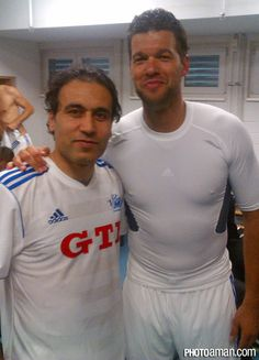 Mehdi Mahdavikia with Michael Ballack