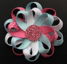 Flower Loop Bow - Sherbet