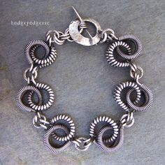 The CRAZY COIL  Sterling Silver Coiled Bracelet by hodgepodgerie2, $225.00