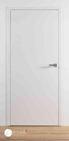 Nieuw in ons gamma : A Frame deuren. Moderne strakke deur met onzichtbare scharnieren. De deurbladen vallen in hetzelfde vlak als het frame. Keuze uit lijsten van 50 of 80 mm. Rubber in aanslag. Zowel ongelakt als gelakt (RAL 9010) verkrijgbaar. Zeer goede prijs/kwaliteit! Door Knobs, House Design, Doors, Mirror, Almonds, Furniture, Home Decor, Blog, Invisible Hinges