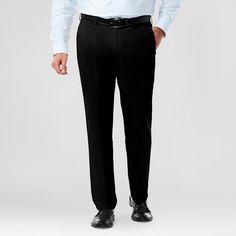 Haggar H26 Men's Big & Tall No Iron Classic Fit Stretch Trouser Pants Black 32x36