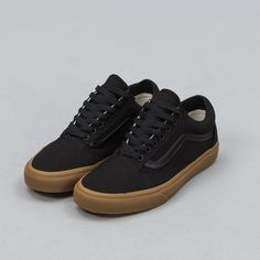 Vans Canvas Gum Old Skool in Black Top View