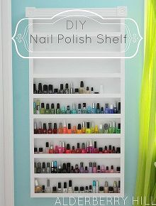 11 diy nail polish rack ideas diy projects do it yourself projects diy nail polish shelf solutioingenieria Gallery
