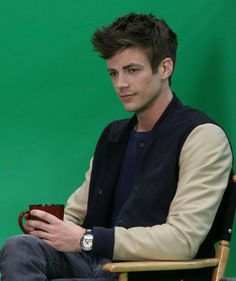 Grant Gustin - Just a few short days until I head to Vancouver to start filming The Flash pilot. Can't believe it. Here's a super random picture from a few months ago during some Flash/Arrow press.