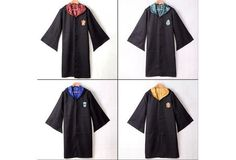 Adult Harry Potter Gryffindor/Slytherin/Hufflepuff/Ravenclaw Robe/Cloak/Cape Cosplay Costumes [9325863876]