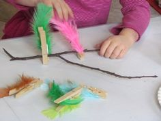 Feather Clipping Fine Motor Activity (to go along with book, No Two Alike by Keith Baker)