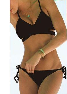 Sexy Bandeau Split Bikini Set Bandage Swimsuit Bikini brazilian bikini Cut Out Biquini Brasileiro Swimsuit Swimwear Female