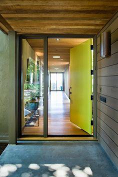 Green Modern Modern Front Door
