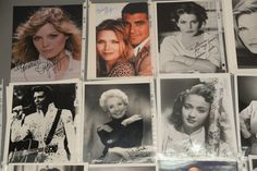 Group of 28 photographs, 24 are autographed including 2 Michelle Pfeiffer (one with COA), 3 Priscilla Presley, 1 Christopher Plummer, 9 Eleanor Parker, 4 Jane Powell, 1 Juliette Prowse, 1 Dennis Quaid, 1 Suzanne Pleshette,