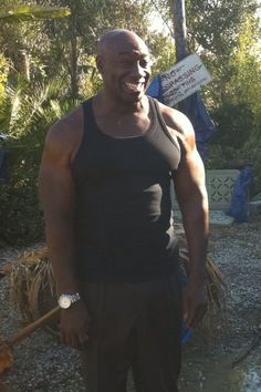 Michael Clarke Duncan from the set of 'The Finder'. R.I.P.