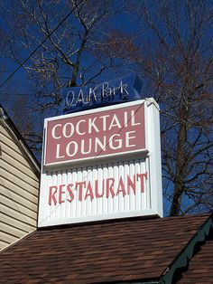 Neon and plastic sign for Oak Park Restaurant east of Mansfield, Ohio. Mansfield Ohio, Park Restaurant, Oak Park, Bar Signs, Cleveland, Growing Up, Liquor, How To Memorize Things, Pride