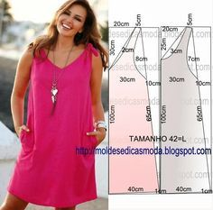 Discover thousands of images about sewing summer dresses. Dress patterns- So Sew Easy.Easy Summer dress (Pattern only. You need to have a working knowledge of pattern…The best in internet: Easy Dress Patterns for SummerPersonalize as suas bolsas passo a Sewing Summer Dresses, Summer Dress Patterns, Spring Dresses, Easy Sewing Patterns, Clothing Patterns, Sewing Diy, Sewing Table, Sewing Tutorials, Sewing Projects