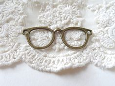 1- Eye Glass Pendant Large Connector Charm Antique Bronze Hipster Glasses Charms Metal Cut Out Eye Glass Frame Jewelry Supplies Inv0185 by BuyDiy on Etsy
