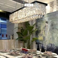 Modern rectangular K9 Chandeliers for living room high quality Five rings Crystal lamps(China (Mainland))