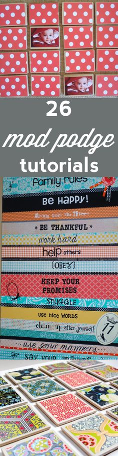 26 Favorite Mod Podge Tutorials via burlap+blue