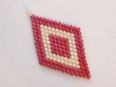 Tutorial perline tecnica Brick Stitch: come fare rombi con la tecnica Br...